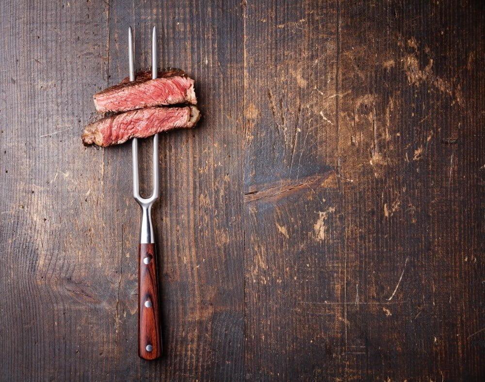 Kød på stegegaffel